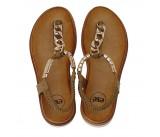 Γυναικείο παπούτσι flat EXE BZD86936-JL1 ΜΑΥΡΟ